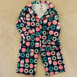 Carter's Jammies PJs Milk and donuts 18 month baby